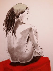 Anita. Charcoal and pastel on paper. Todmorden, 2015