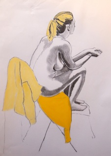Ola. Charcoal and pastel on paper. Todmorden, 2015