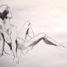 Ste. Charcoal on paper. Todmorden, 2016